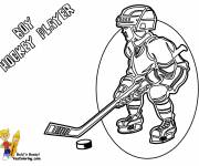 Coloring pages Child Hockey Player