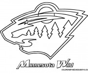 Coloring pages Club de Hockey Minnesota Wild