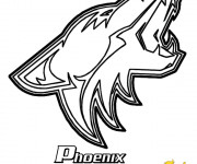 Free coloring and drawings Club de Hockey Phoenix Coyotes Coloring page