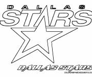 Coloring pages Dallas Stars Hockey Team Logo