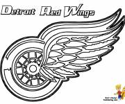 Coloring pages Detroit Red Wings Hockey Team
