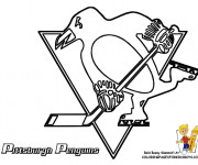 Coloring pages Equipe de Hockey Pittsburgh Penguins
