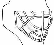 Coloring pages Hockey Helmet