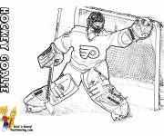 Coloring pages Ice Hockey Goal