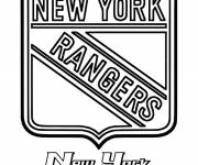 Coloring pages New York Rangers Hockey Team