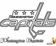 Coloring pages Washington Capitals Ice Hockey Team