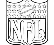 Coloring pages NFL football ball