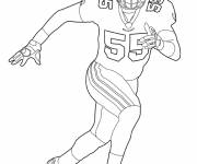 Coloring pages NFL in black and white