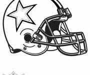 Coloring pages NFL in vector