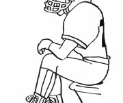 Coloring pages NFL to be completed