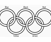 Coloring pages Five color olympics