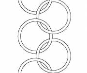 Coloring pages Olympic Games logo