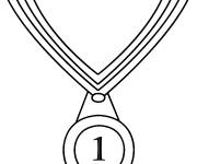Coloring pages Olympic medal for winner