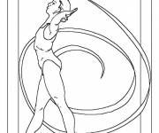 Coloring pages Olympic Rhythmic Dance