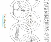 Coloring pages Stylized winter olympics