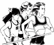 Coloring pages Vector athletics