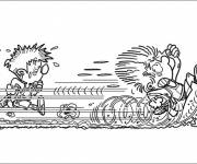 Coloring pages Very fast little runner