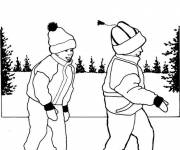 Coloring pages Child skating