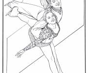 Coloring pages Couple figure skating