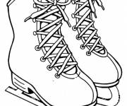 Coloring pages Skating shoes