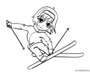 Coloring pages A Little Skier