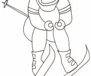 Free coloring and drawings Adult skier Coloring page