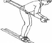 Free coloring and drawings Easy skier Coloring page