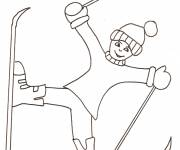 Free coloring and drawings Easy skiing Coloring page