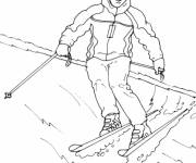 Free coloring and drawings Kindergarten ski Coloring page