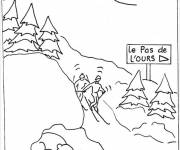 Free coloring and drawings Ski Landscape Coloring page