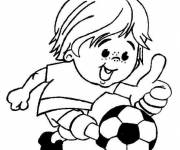 Coloring pages Cute soccer player
