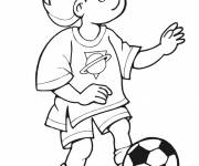 Coloring pages Easy Soccer