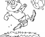 Free coloring and drawings Humorous Soccer Player Coloring page