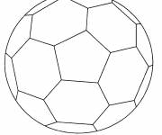 Coloring pages Simplified Soccer Ball