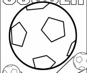 Coloring pages Soccer and Ball
