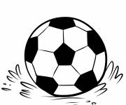 Coloring pages Soccer ball on the field