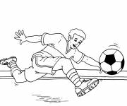 Coloring pages Soccer Ball Shoot