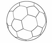 Free coloring and drawings Soccer ball simple Coloring page