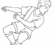 Free coloring and drawings Soccer Headshot Coloring page