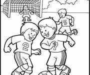 Coloring pages Soccer match