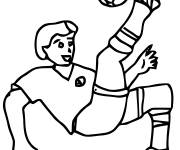 Coloring pages Splendid Football shoot