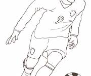 Coloring pages Stylized football