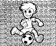Coloring pages Vector Little Soccer Player