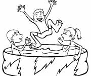 Free coloring and drawings Funny swimming Coloring page