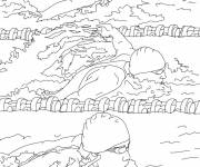Free coloring and drawings Municipal swimming pool Coloring page