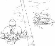 Coloring pages Olympic swimming
