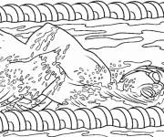 Free coloring and drawings Professional swimmer Coloring page