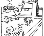 Free coloring and drawings Swimming pool Coloring page