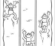 Coloring pages Swimming race