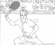 Free coloring and drawings Federer Tennis Player Coloring page